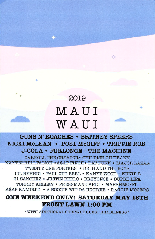 Maui Waui poster 2019