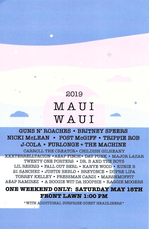 Maui Waui poster 2019
